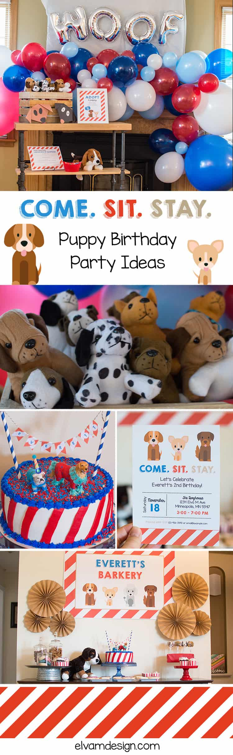Come. Sit. Stay. It's time to Pawty. Head over to Elva M Design Studio to check out these Puppy Party Ideas.