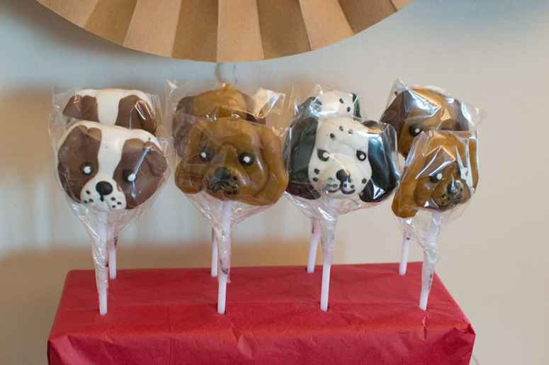 Dog Lollipops from Oriental Trading Company