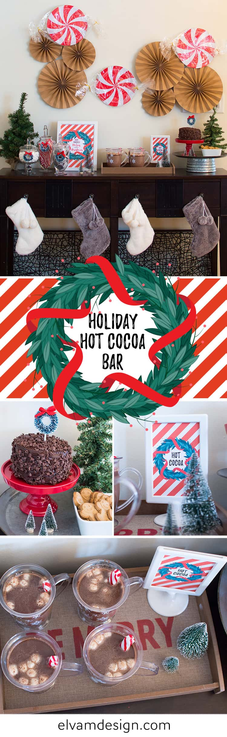 Holiday Hot Cocoa Bar by Elva M Design Studio