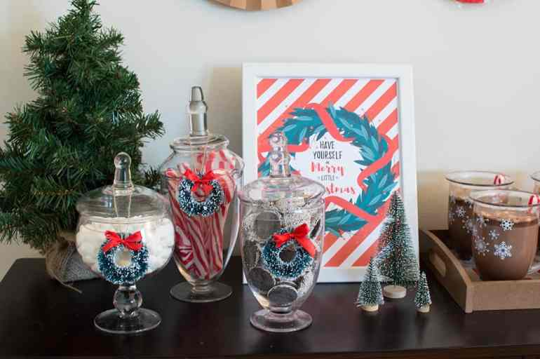 Apothecary jars from Oriental Trading and styled by Elva M Design Studio