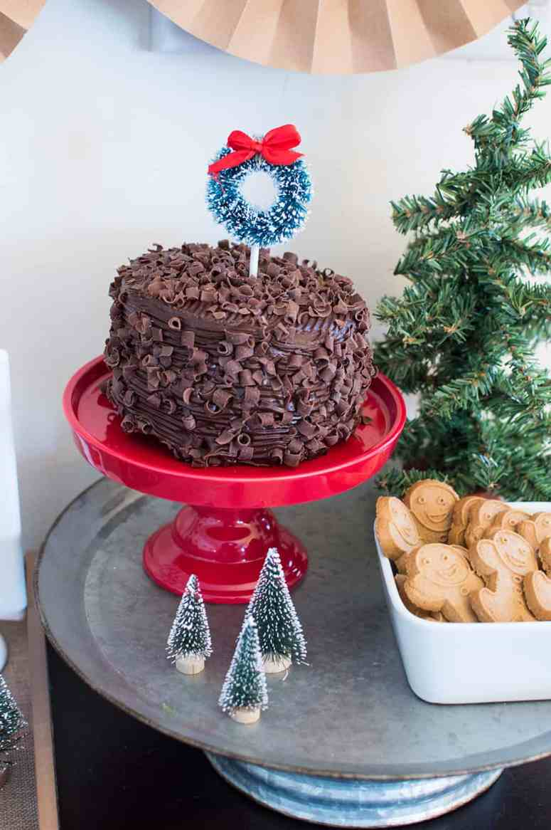 Cake and Cookies at a Holiday Hot Cocoa Bar Styled by Elva M Design Studio