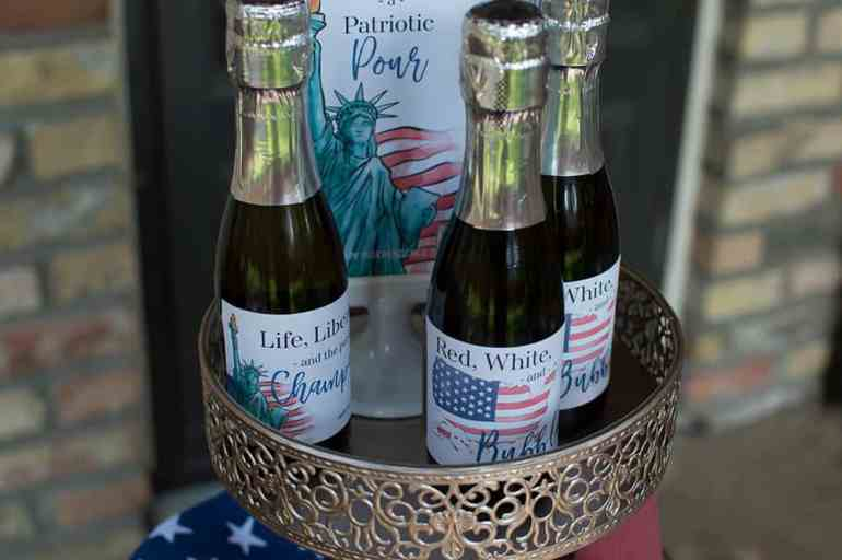 4th of July Happy Hour Champagne Labels