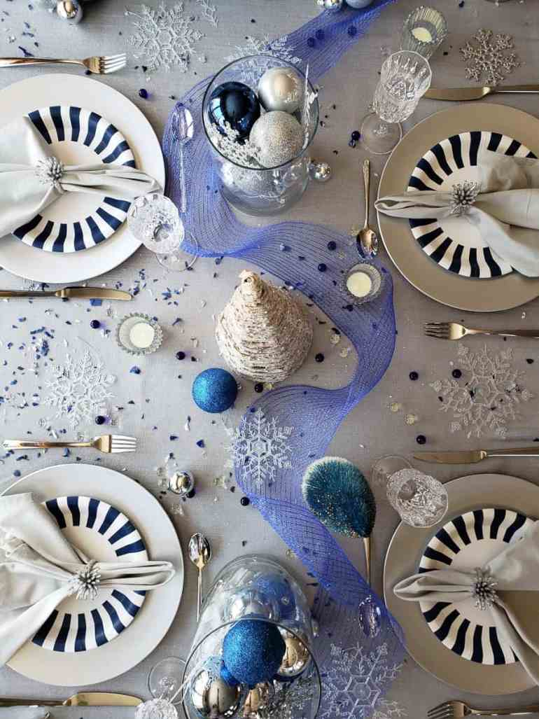 Winter wonderland table styled by Picabash in collaboration with Elva M Design Studio