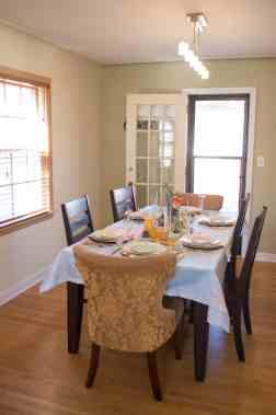 A beautiful styled table can take a simple dining room up a notch