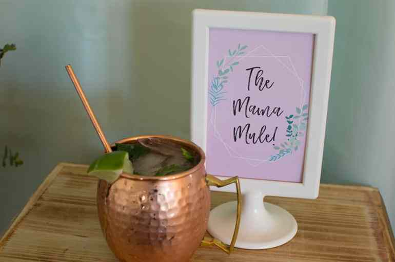 The Mama Mule -- a Moscow Mule with champagne!  Get the details at elvamdesign.com
