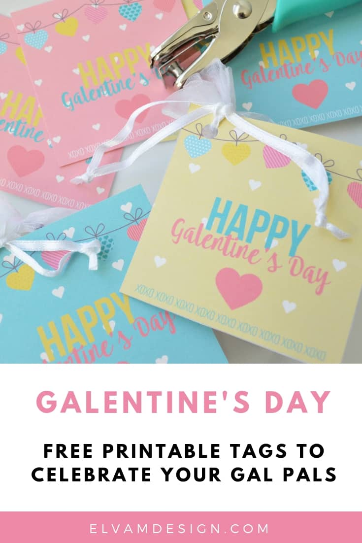Free Galentine's Day Tags to celebrate your gal pals.