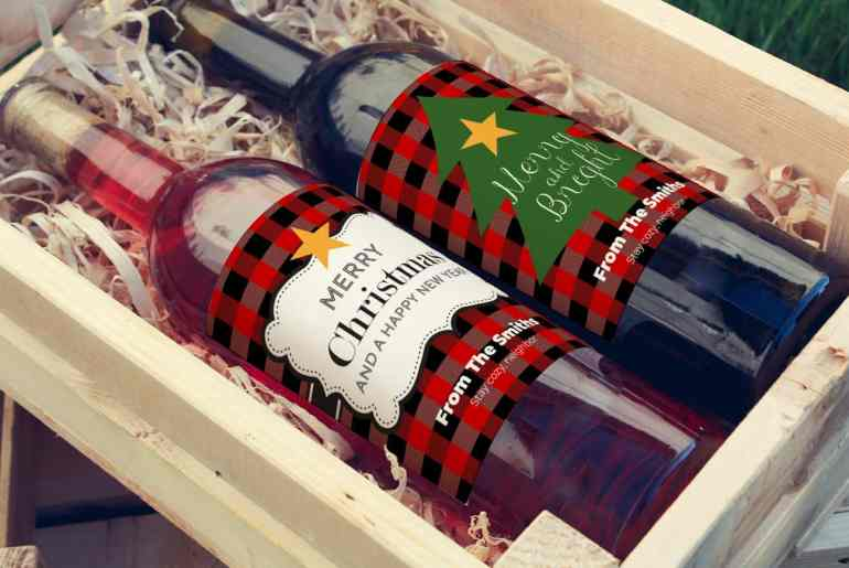 Spread cheer! Free Christmas Wine Labels