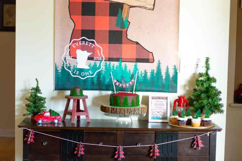 Lumberjack dessert table styled by Elva M Design Studio