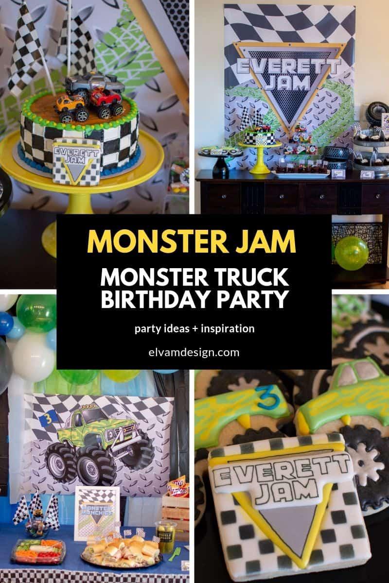 monster truck birthday party elva m