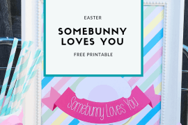 "Download this free ""Somebunny Loves You"" Easter Printable from Elva M Design Studio"