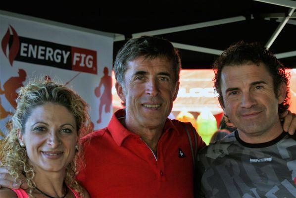 Los dueños de Energy Fig con Perico Delgado