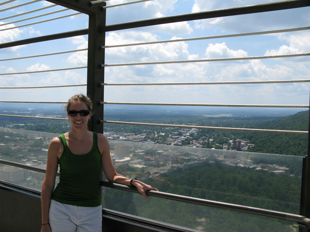Beautiful views from the Hot Springs tower.