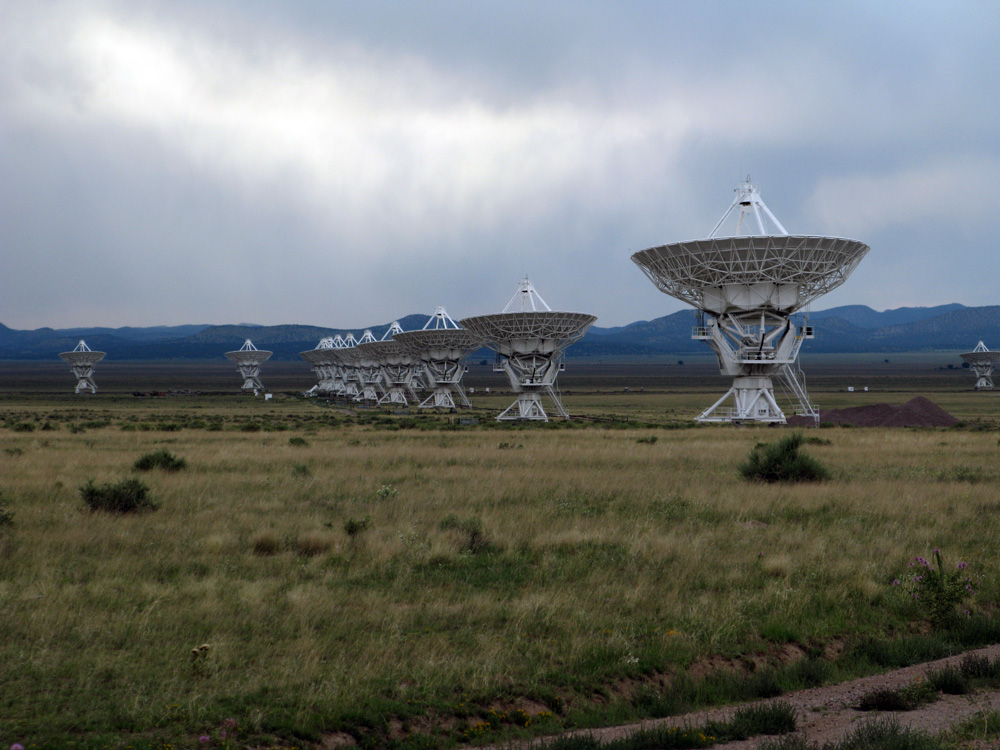 Looking up for radio signals from deep space.