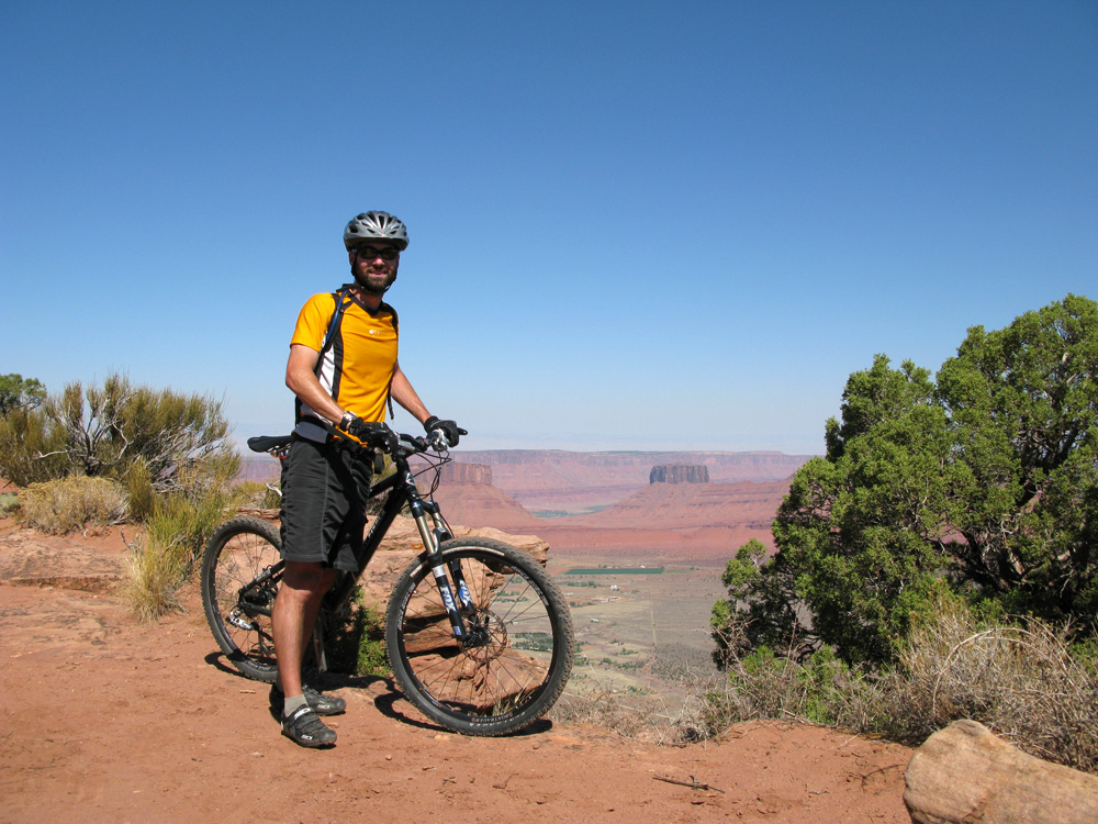 On the Porcupine Rim trail at Moab.