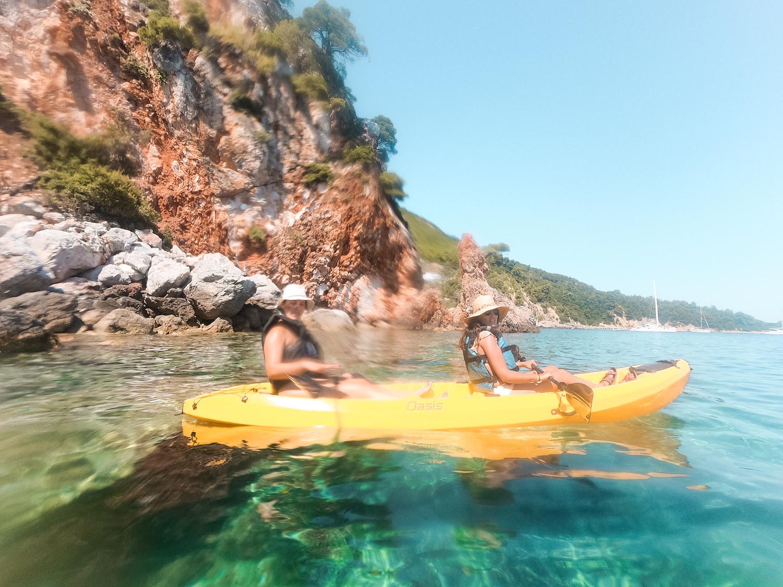 Kayak en Skopelos