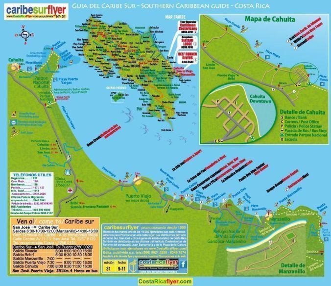 mapa costa caribe_costa rica_blog viajes_el viaje no termina