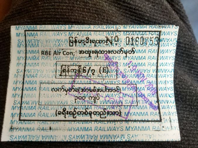 Billete tren Birmania - Blog Viajes - El Viaje No Termina