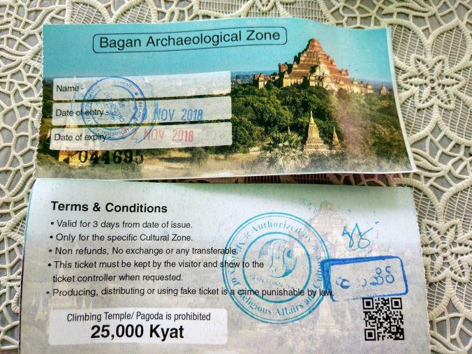 Ticket Lago Inle - Birmania - Blog Viajes - El Viaje No Termina