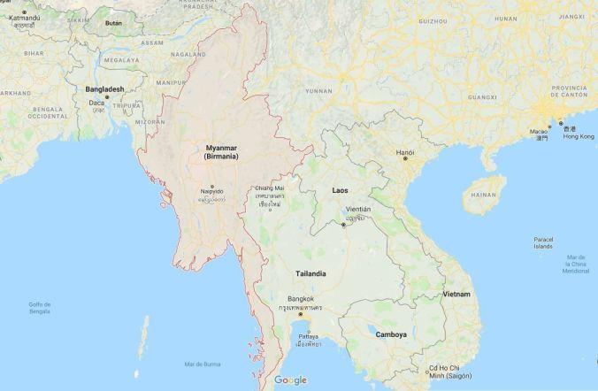 Ubicación Birmania - Blog Viajes - El Viaje No Termina