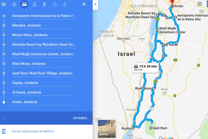 Ruta coche Jordania - El Viaje No Termina
