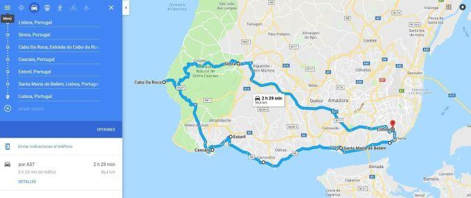 Ruta circular Lisboa