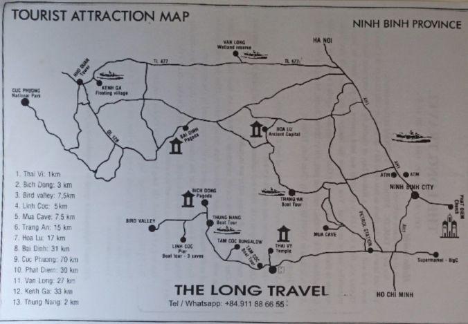 Mapa Ninh Binh - Vietnam - El Viaje No Termina