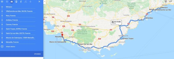 Ruta Costa Azul - Francia - El Viaje No Termina