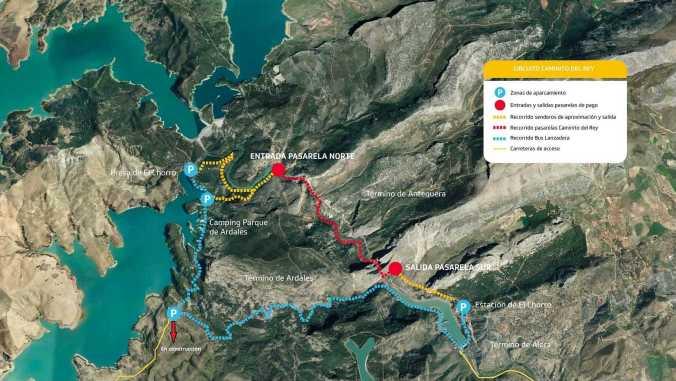 Plano Caminito del Rey - Malaga - El Viaje No Termina