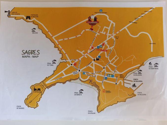 Mapa Sagres - Portugal - El Viaje No Termina