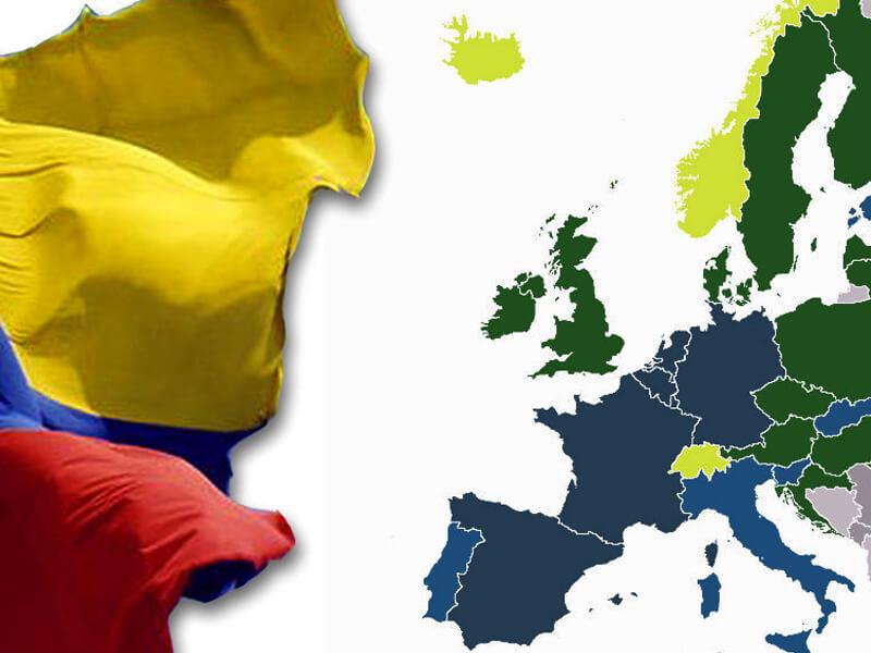Colombianos a Europa sin visa