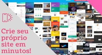 Construa seu próprio site em minutos! E não é mais um criador online