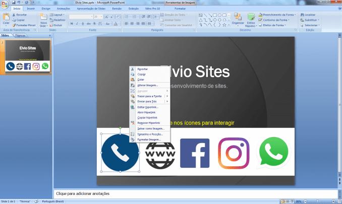 Veja como usei o Power Point para criar pdf com links e distribuir no whatsapp