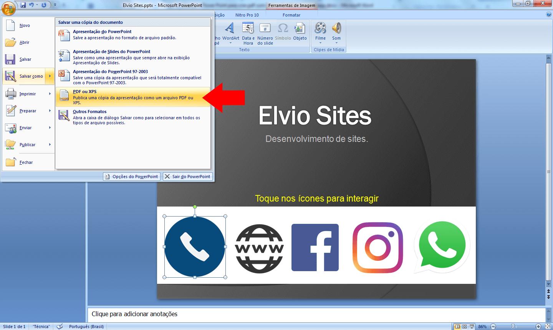 Salva pdf com os links