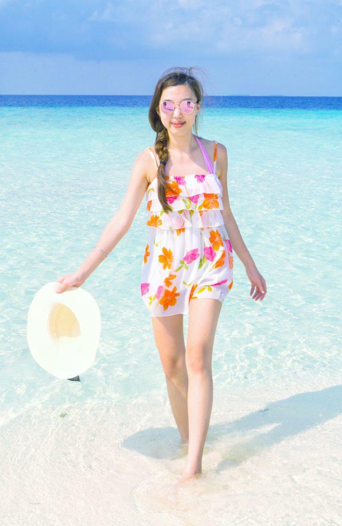 Floral Print Dress beach wear maldives lookbook vacation lookbook