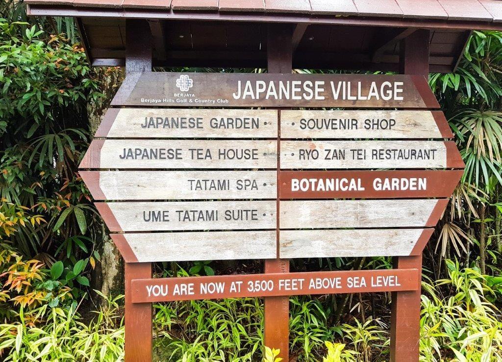berjaya hills japanese village