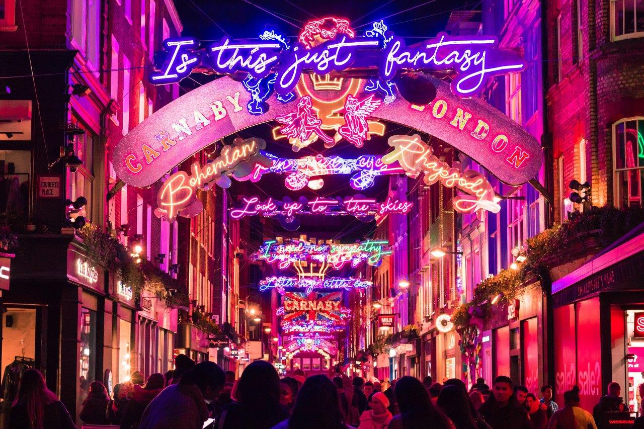 carnaby street christmas lights christmas activities london