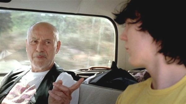 Make it fun with Alan Arkin and Paul Dano in van in Little Miss Sunshine.