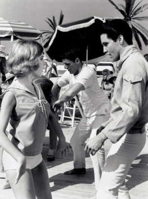 Burbank to Graceland: photo of Elvis and Shelly Fabares from the 1965 movie GIRL HAPPY.