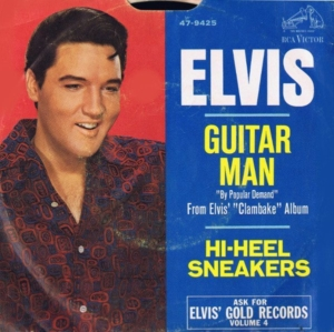 Fallacies: US picture sleeve to the Guitar Man single of 1968.
