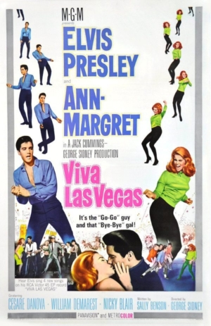 Fallacies: theater lobby poster to the 1964 movie Viva Las Vegas.