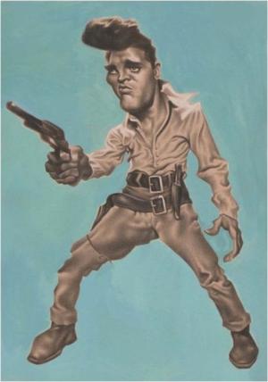 Elvis' Golden Caricatures Volume 5: caricature of Elvis by David Pugliese.