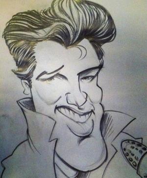 Elvis' Golden Caricatures Volume 5: caricature of Elvis by Matt Burns.