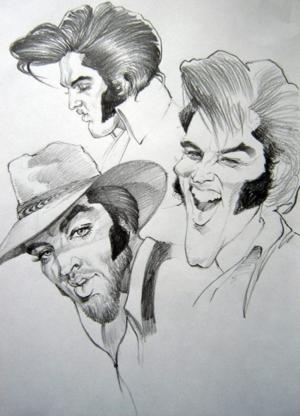 Elvis' Golden Caricatures Volume 5: caricature of Elvis by Gabriel Balazs.