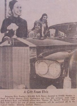 NEWSPAPER article Elvis Rolls Royce Phantom V Santa Monica