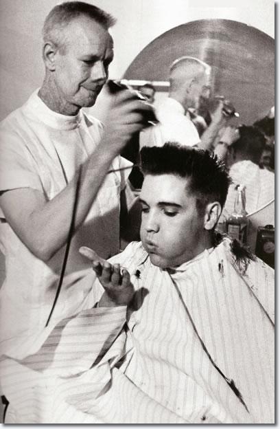 Elvis Presley Haircut Fort Chaffee In March 1958 Elvis