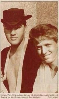 NEWSPAPER rare of Elvis wearing small wired hat