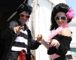Stilt Elvis & Priscilla Presley