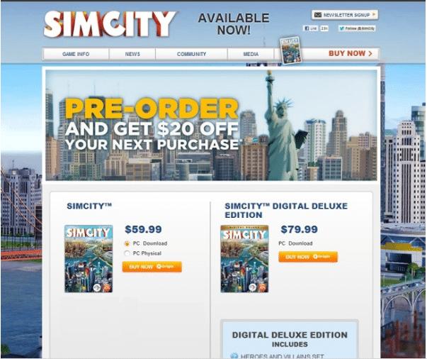 SimCity A/B Testing Original
