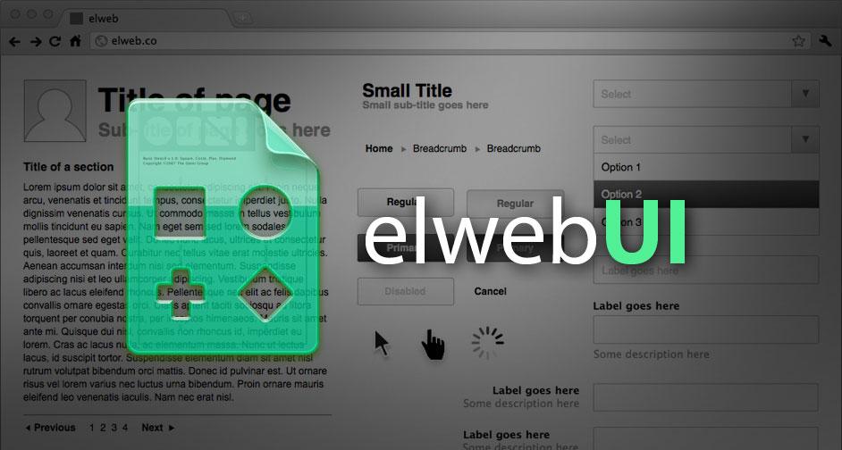elwebUI: Complete web wireframe kit