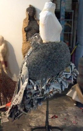 Dress (in process) by Rachel C. Wright